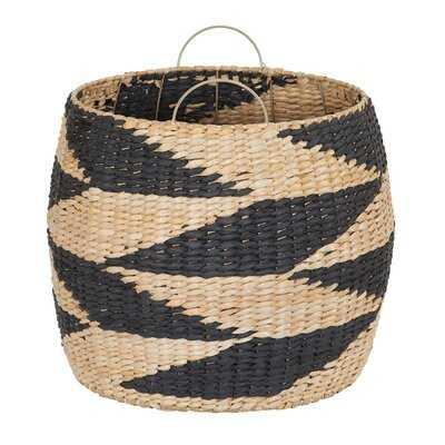 Zig Zag Barrel Wicker Basket - AllModern