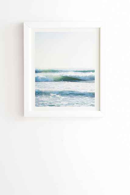 """Ride Waves by Bree Madden - Framed Wall Art Basic White 19"""" x 22.4"""" - Wander Print Co."""