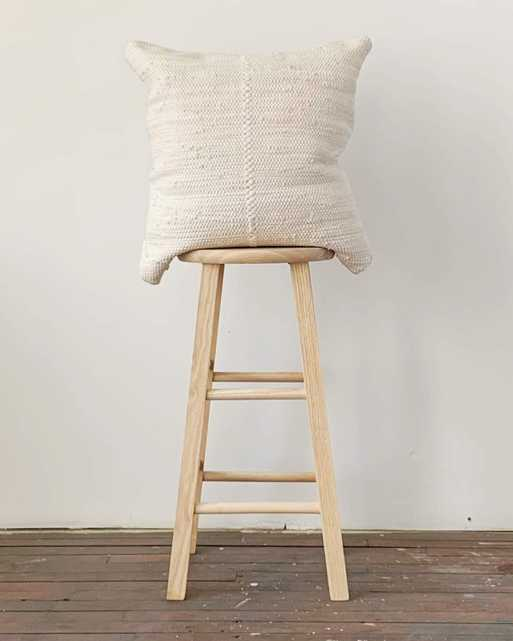 chindi pillow in heavy cream - cover only - PillowPia