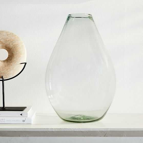 Pure Glass Vase, Raindrop, Clear, Extra Large - West Elm