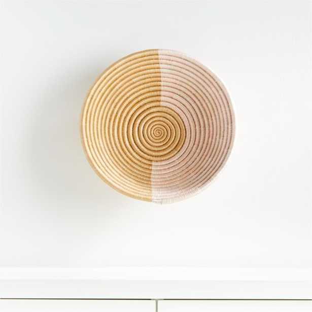 Indego Africa Akeza Plateau Wall Basket - Crate and Barrel