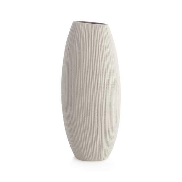Alura Tall Vase, Cream - Crate and Barrel