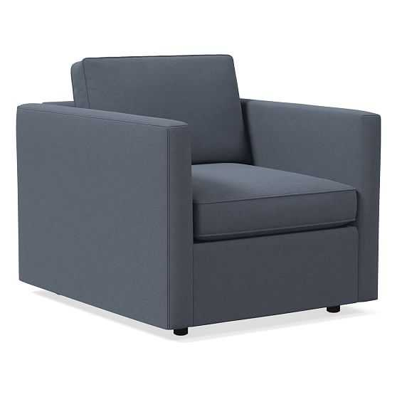 Harris Chair, Performance Velvet, Corn Flower, Concealed Support - West Elm