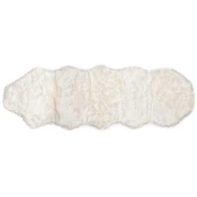 Nussbaum Faux Sheepskin White Rug - Wayfair