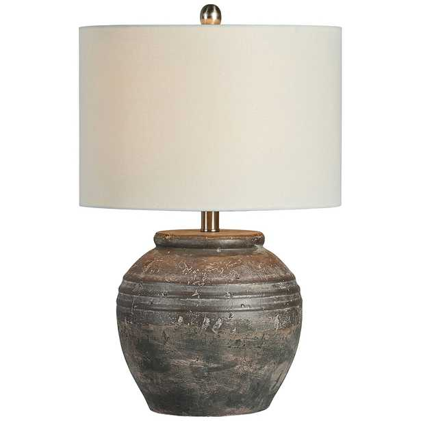 Forty West Douglas Shades of Brown Ceramic Accent Table Lamp - Style # 87K14 - Lamps Plus