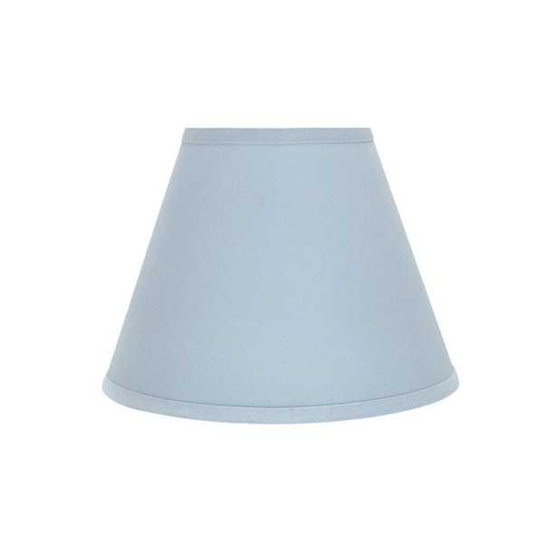 Aspen Creative Corporation 12 in. x 9 in. Light Blue Hardback Empire Lamp Shade - Home Depot