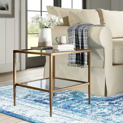 Double Glass Top End Table with Storage - Birch Lane