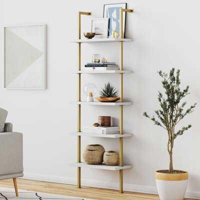 """Moskowitz 72"""" H x 24"""" W Metal Ladder Bookcase - Wayfair"""
