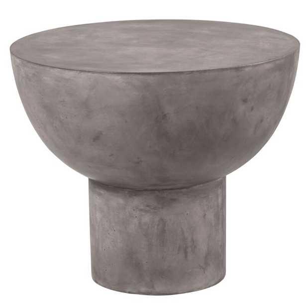 "Seasonal Living Perpetual Concrete Side Table Color: Slate Gray, Table Size: 16.5"" - Perigold"