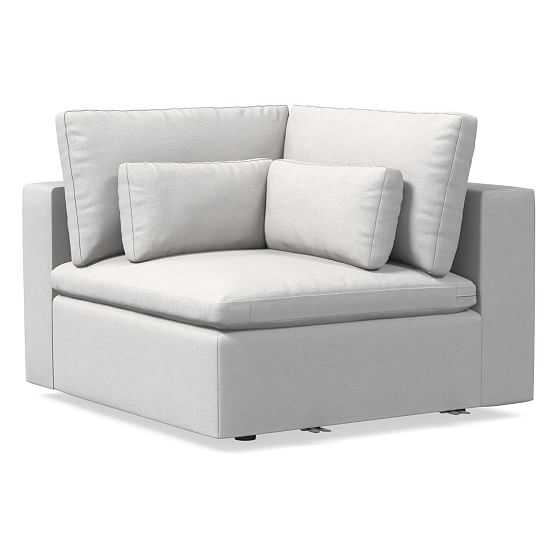 Harmony Modular Corner, Down, Eco Weave, Oyster, Concealed Supports - West Elm