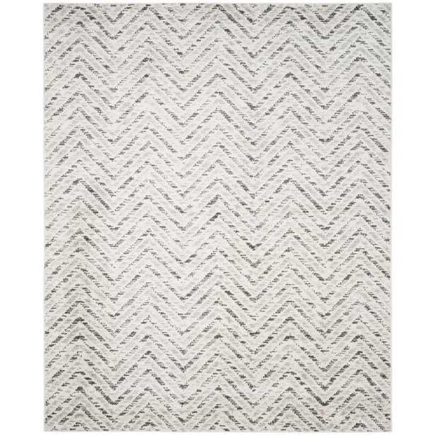 Adirondack Ivory/Charcoal (Ivory/Grey) 8 X 10 Area Rug - Home Depot