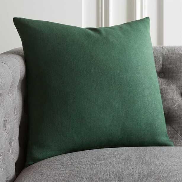"20"" Linon Evergreen Pillow with Down-Alternative Insert - CB2"