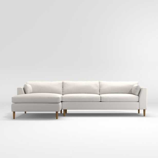 Avondale Wood Leg 2-Piece Sectional - Crate and Barrel