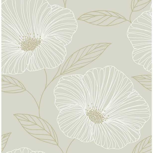 NuWallpaper Dove Floweret Strippable Peel and Stick Wallpaper - Home Depot