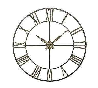 Oversized Galvanized Wall Clock - Pottery Barn