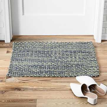 """Rope Weave Doormat, 18""""x30"""", Midnight - West Elm"""