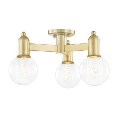 """Flush Mount Lighting Corinne 3-Light 18"""" Semi Flush Mount - AllModern"""