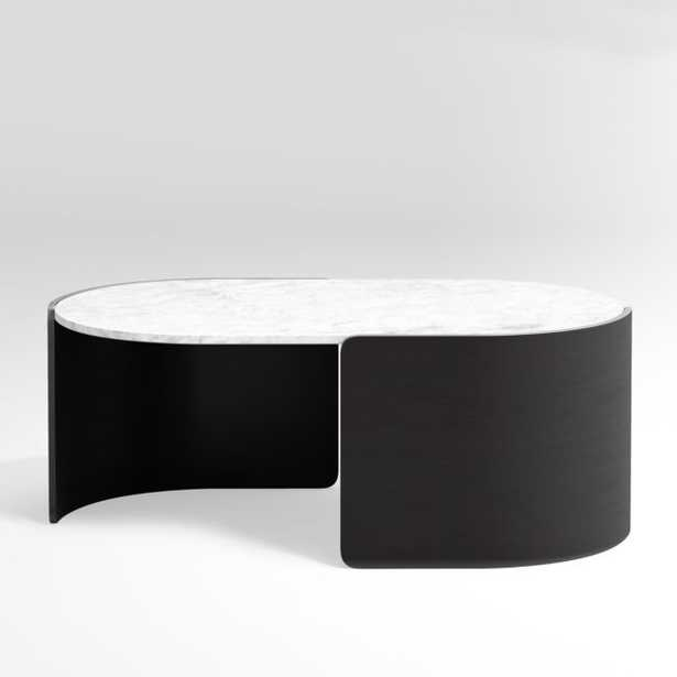 Holm Oval Marble Coffee Table - Crate and Barrel