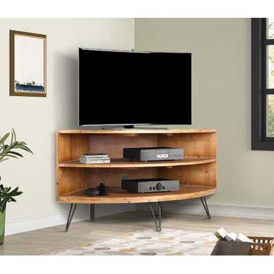 """Laurine Solid Wood Corner TV Stand for TVs up to 43"""" - Wayfair"""