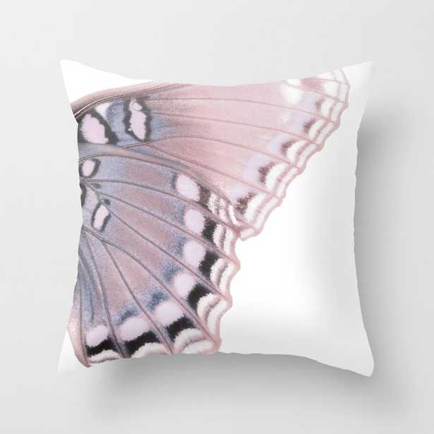 """Pink And Blue Butterfly Wing Couch Throw Pillow by Christina Lynn Williams - Cover (24"""" x 24"""") with pillow insert - Indoor Pillow - Society6"""