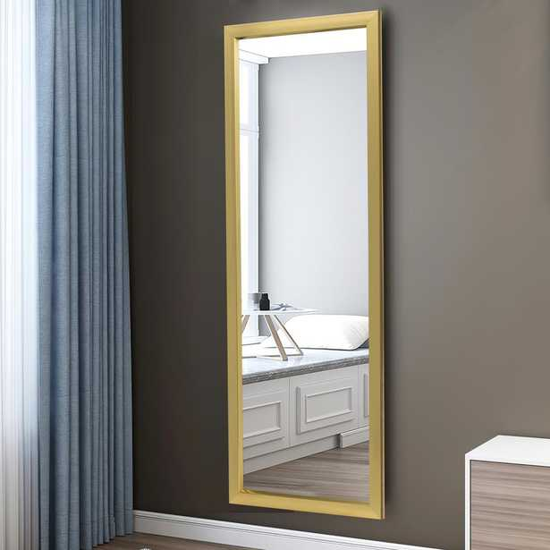 SUZHOU 703 NETWORK TECHN 43in.H x 16in.W x 0.6in.D Modern Rectangle Wall-Mounted Mirror - Home Depot