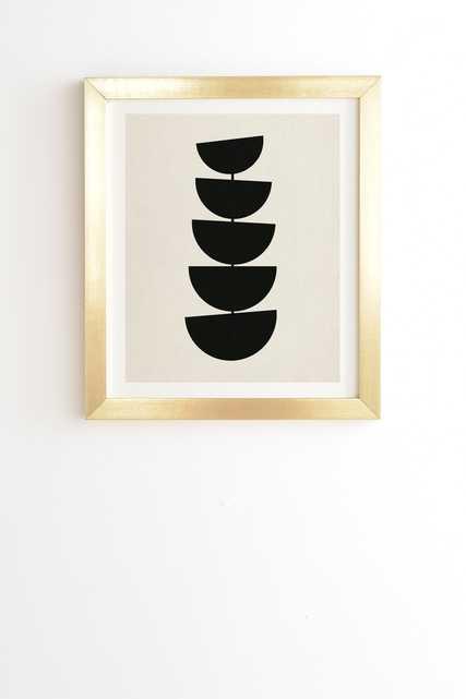 "Stem by Rose Beck - Framed Wall Art Basic Gold 20"" x 20"" - Wander Print Co."
