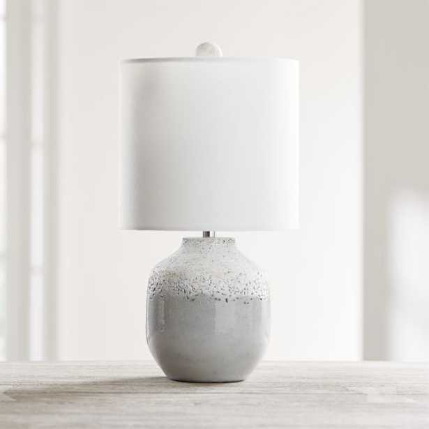 Quinn Grey and White Table Lamp, Set of 2 - Crate and Barrel