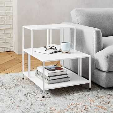 Profile Side Table, White - West Elm
