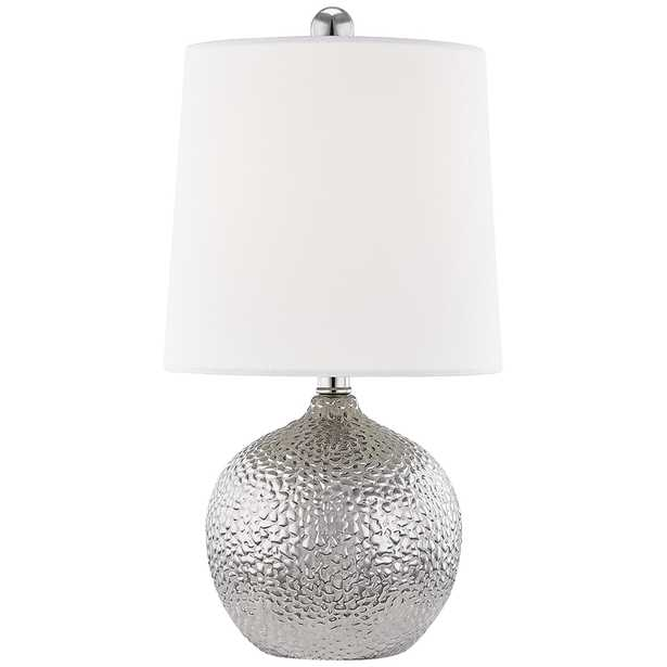 """Mitzi Heather 14 1/2"""" High Silver Ceramic Accent Table Lamp - Style # 77A21 - Lamps Plus"""