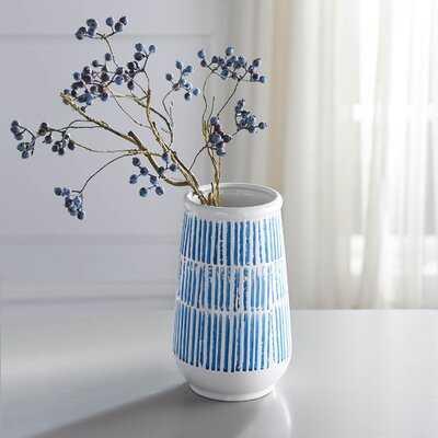 Seadrift Strokes Wide Top Vase - Wayfair