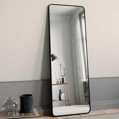 "Black Full Length Mirror, Rounded Floor Mirror Standing Hanging Or Leaning Against Wall Dressing Room Mirror Full Length, 65""X22"" - Wayfair"