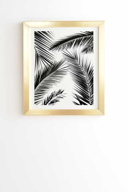 """Palm Leaves 10 by Mareike Boehmer - Framed Wall Art Basic Gold 8"""" x 9.5"""" - Wander Print Co."""