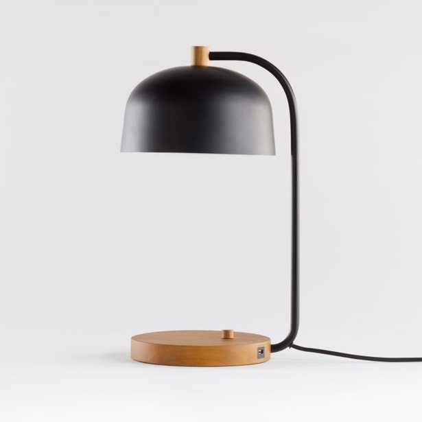 Lex Black Dome USB Desk Lamp - Crate and Barrel