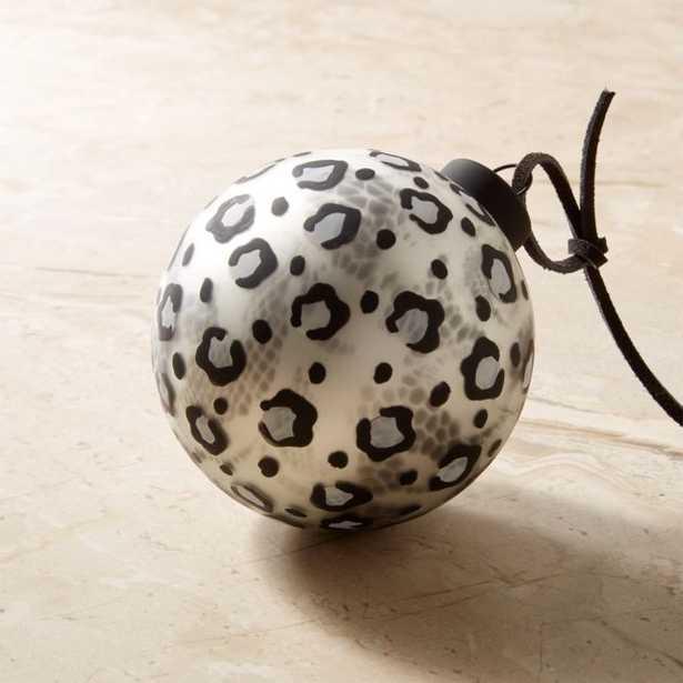 Snow Leopard Black and White Ornament - CB2