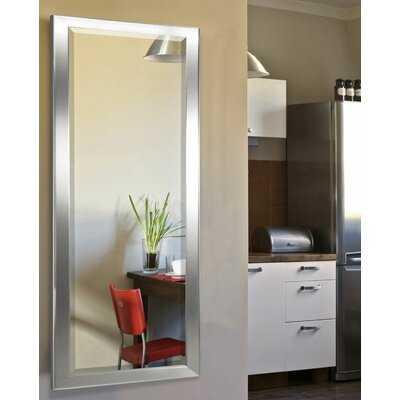 Minimal Silver Traditional Beveled Full Length Mirror - Wayfair