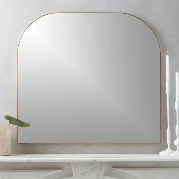 Infinity Brass Mantel Mirror - CB2
