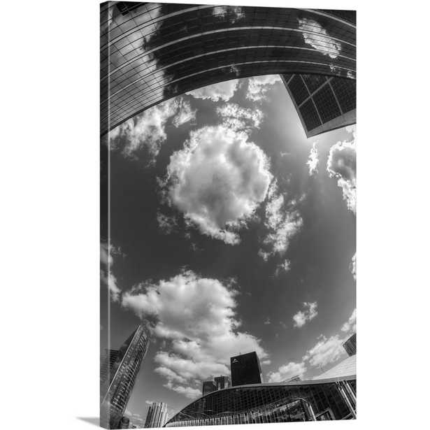 Black and white photograph of the sky in the city by Sebastien Lory Canvas Wall Art, Multi-Color - Home Depot