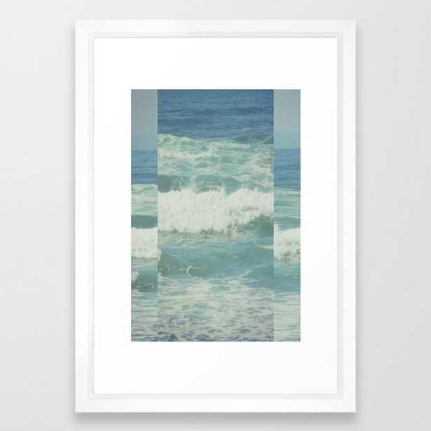 Ocean Framed Art Print by Hannah Kemp - Vector White - SMALL-15x21 - Society6