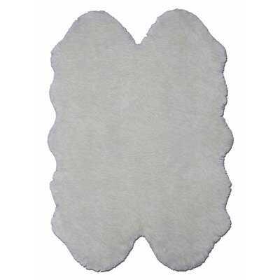 Handmade Sheepskin Ivory Rug - Wayfair