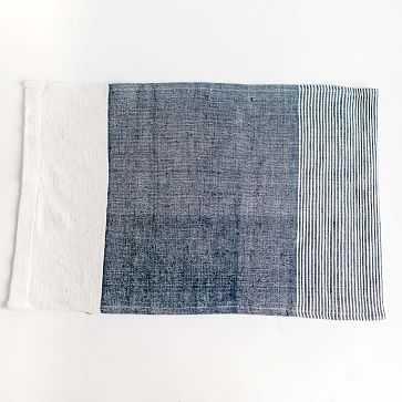 Chesapeake Handwoven Cotton Tea Towel Navy - West Elm