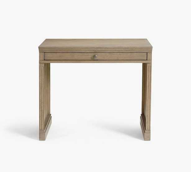 "Livingston 35"" Writing Desk, Gray Wash - Pottery Barn"