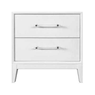 Kaivhon 2-drawer White Night Table - Wayfair