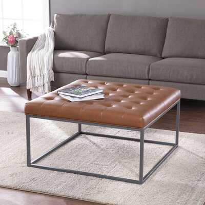 Ciarin Upholstered Cocktail Ottoman, Brown And Gray - Wayfair