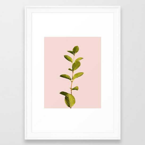 Botanica Art V3 #society6 #decor #lifestyle #fashion Framed Art Print by 83 Orangesa(r) Art Shop - Scoop White - SMALL-15x21 - Society6
