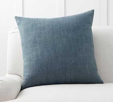 "Belgian Linen Pillow Cover, 24"", midnight - Pottery Barn"