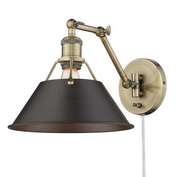 Golden Lighting Orwell 1 Light Articulating Wall Sconce - Home Depot