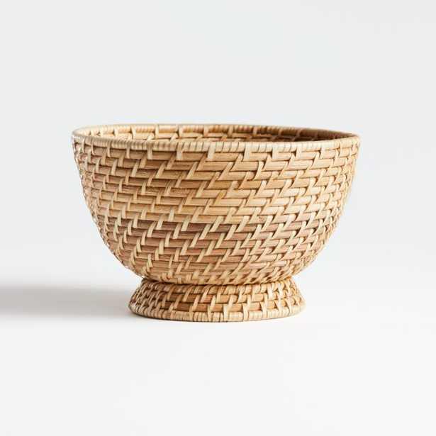 Artesia Natural Small Rattan Bowl - Crate and Barrel