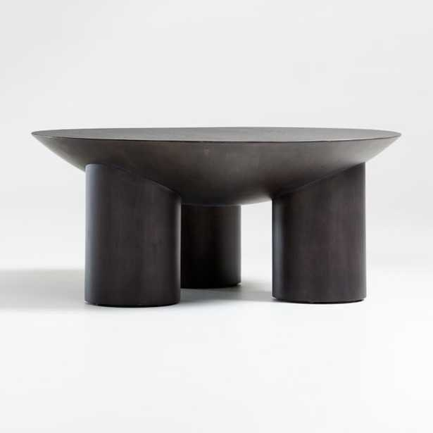 Tom Charcoal Three-Legged Coffee Table - Crate and Barrel