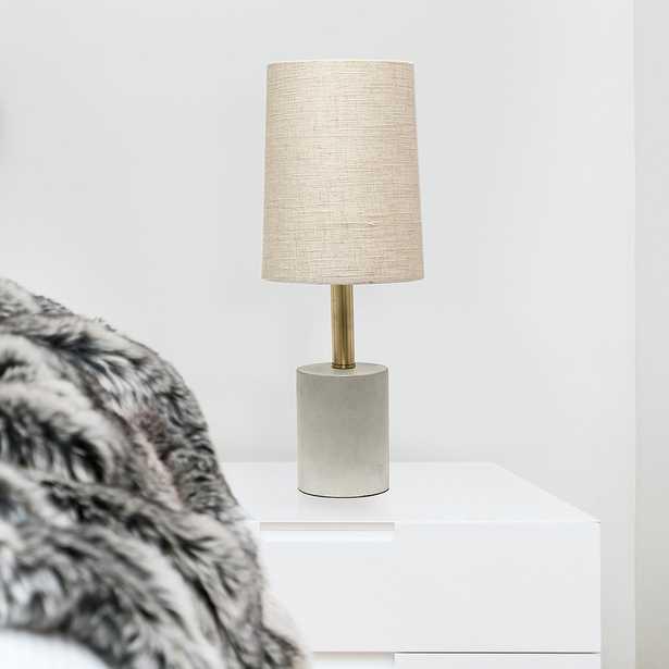 """Lalia Home 18 1/2""""H Khaki Gray Concrete Accent Table Lamp - Style # 85R20 - Lamps Plus"""