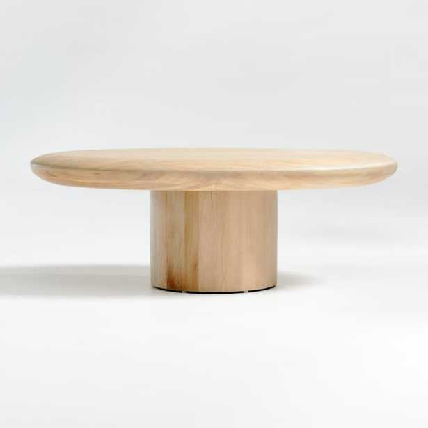 Pacific Natural Wood Oval Coffee Table - Crate and Barrel